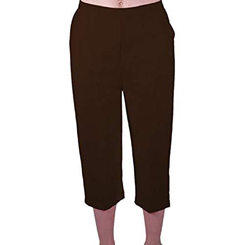 EyeCatch - Florida Damen Capri Hosen Shorts Crop Plusgroben Frauen 3/4 Viertelhose Braun Size 50 Crop Capri-jeans