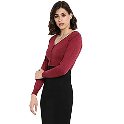 Monte Carlo Magenta Solid Pure Wool Front Open Blouse