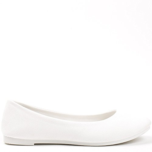 Ideal Shoes ,  Ballerine donna Bianco
