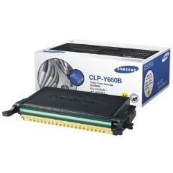 Samsung CLP-Y660B/ELS Original Toner (Hohe Reichweite, Kompatibel mit: CLP-610/CLP-660/CLX-6200/6210/6240 Series) gelb