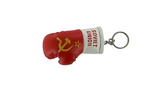Porte Cles auto, moto, Bandiera guanto da boxe chiave secolo sovietica URSS Russo