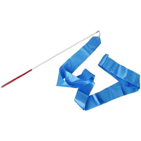 tmodd Palestra Danza Nastro Ginnastica Ritmica Streamer Canna Baton Twirling partito nuovo anno cinese, colore: blu