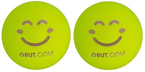 Obut Premiergames Schweinchen/Zielkugeln 2er Set Neon Smiley (Gelb)