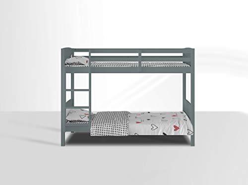 Visco Therapy Domino 3FT Kids Bunk Bed available in Grey and White (Grey)