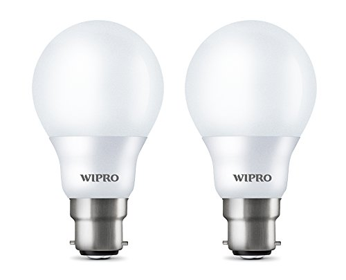 Wipro Garnet B22 5-Watt LED Bulb (Pack of 2, Cool White)