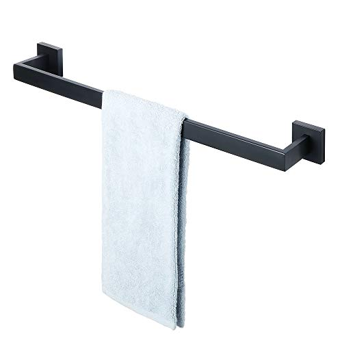 Sayayo Single Handtuch Bar Handtuch Rod 61 cm Wand montiert, Edelstahl matt schwarz, EGA7201B -