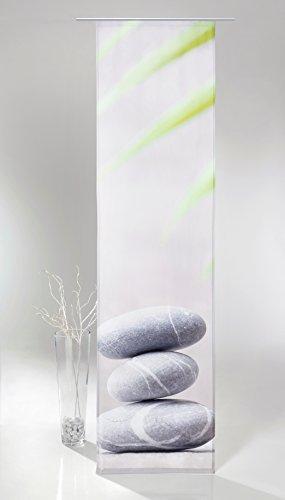 Fashion&Joy - Flächenvorhang mit hochwertigem Fotodruck HxB 245x60 cm inkl. Zubehör - Schiebevorhang ZEN Steine Schiebegardine Stone Typ408
