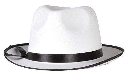 Preisvergleich Produktbild Boland 04019 - Erwachsenenhut Mafia,  Einheitsgröe,  weiß / schwarz