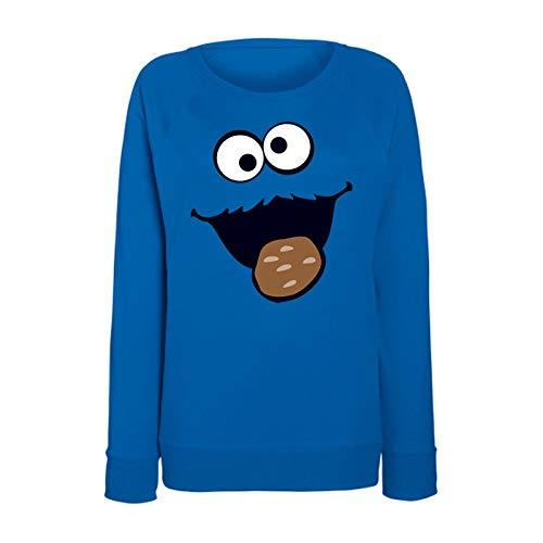 Jimmys Textilfactory Sweatshirt Krümelmonster mit Keks Karneval Kostüm -