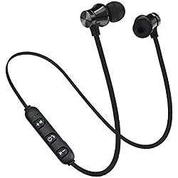 XT11 Bluetooth 4.2 magnético en la Oreja los Auriculares Manos Libres Reducción de Ruido Deportes Que Funcionan con conexión de Cable del Auricular del Auricular Mengonee