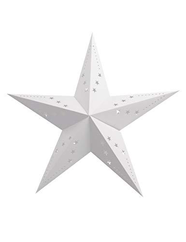Party Pro Laterne Stern, Papier, weiß, 30x 30x 11cm