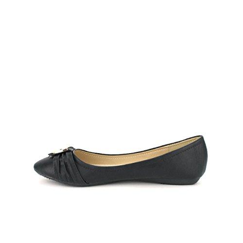 Cendriyon, Ballerine Noire EDENA Mode Chaussures Femme Noir