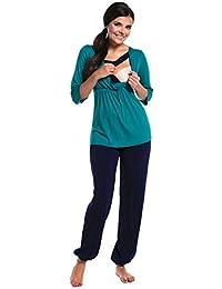 Zeta Ville - Premamá pijama de lactancia diseño doble capas - para mujer - 060c