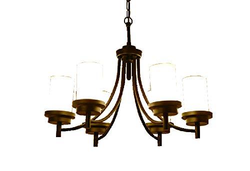 Öl Eingerieben Bronze Licht 6 (SCHNELL 3-5-6-Licht Anhänger Kronleuchter Moderne Metallbeleuchtung Öl eingerieben Bronze Industrie Deckenleuchte für Esszimmer Küche Wohnzimmer)
