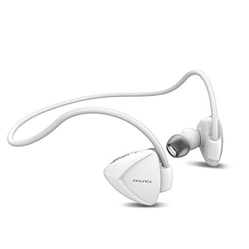YAKOO Wireless Bluetooth 4.1 Kopfhörer (Eingebautes Mikrofon) Ist Geeignet Für Sport Business Fitness Reisen, Kopfhörer Kompatibel Mit Jedem Smart-Gerät., Weiß Headphones Earphones