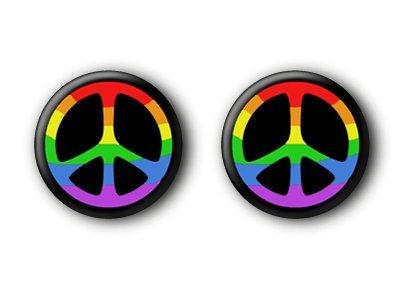 2 Peacebuttons Peace Frieden Buttons #2 (Metall 80er Jahre Kostüm)