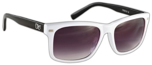 Dice Unisex Sonnenbrille, shiny white/black, one size, D06210-18