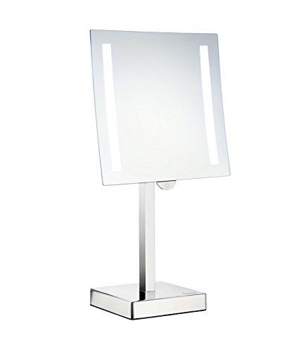 Freistehende Badezimmer-spiegel (Schminkspiegel Outline FK473, Eckig mit LED batteriebetrieben)