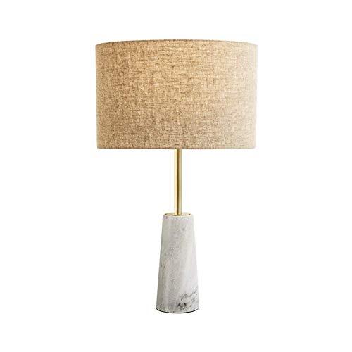 Kegel-basis (Schreibtischlampe Moderne Einfache Kreative Hotel Style Beleuchtung Studie Büro Schlafzimmer Nachtleselampe Leinengewebe schatten Kegel Marmor Basis Tischlampe E27 Licht Mit Schalter)