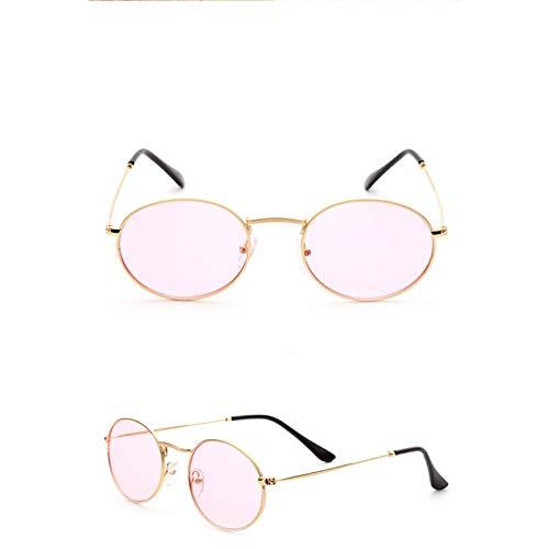 TDPYT Oval Small Frame Sonnenbrille Frauen/Männer Ozean Linsen Brille Lady Candy Color Vintage Spiegel