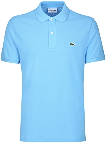 Lacoste PH4012 Herren Poloshirt L1212 in Slim Fit, Polohemd, Polo-Shirt, Polo, Kurzarm Aus 100% Baumwolle Blau (Ocean Blue CQK), EU 6