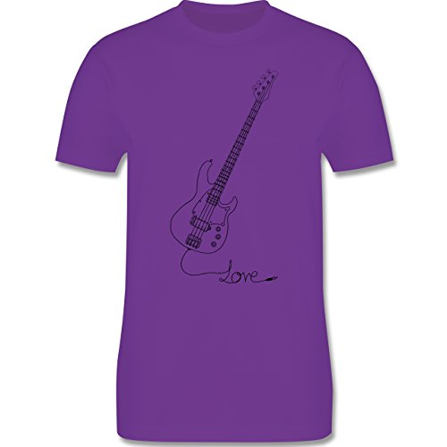 Rock'n'Roll - Love - Gitarre - Herren Premium T-Shirt Lila