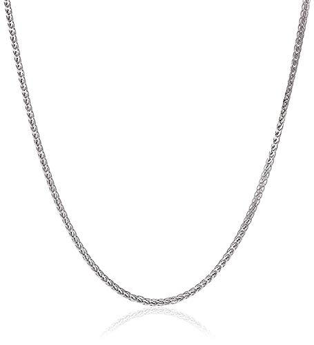 Diamantschliff Spiga Weizen Weißgold Kette - Breite 2 mm - Länge wählbar (55.00) ()