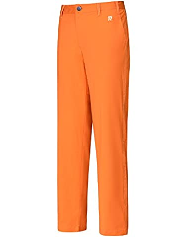 Lesmart Golf Pantalons Poches droites Hommes Couleurs vives Appartement Longue Size 44Wx33L Orange M