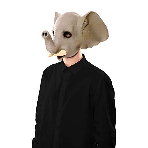 EUROCARNAVALES Máscara de Elefante con Cuernos