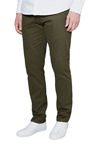 next Hommes Coupe Slim Pantalon Chino Stretch Vert1