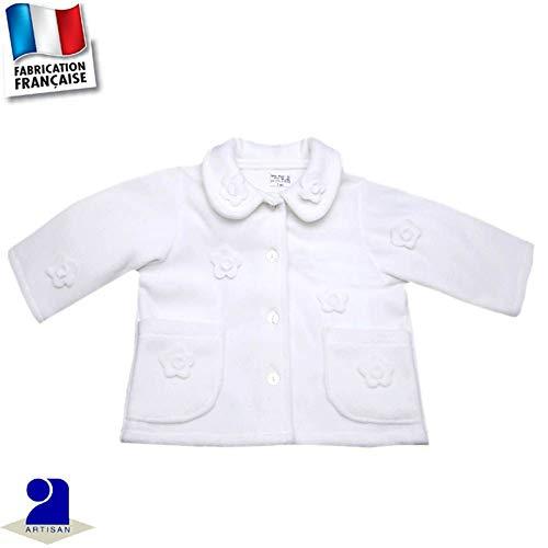 ba148773acf63 Poussin Bleu - Veste polaire baptême, mariage 3 mois au 10 ans Made In  France
