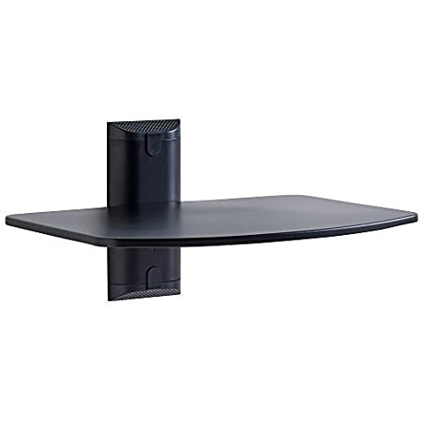 ECHOGEAR Steel Wall-Mounted AV Shelf Supports up to 6.8 kg of Streaming Devices, Game Consoles, and Cable Boxes - EGAV1