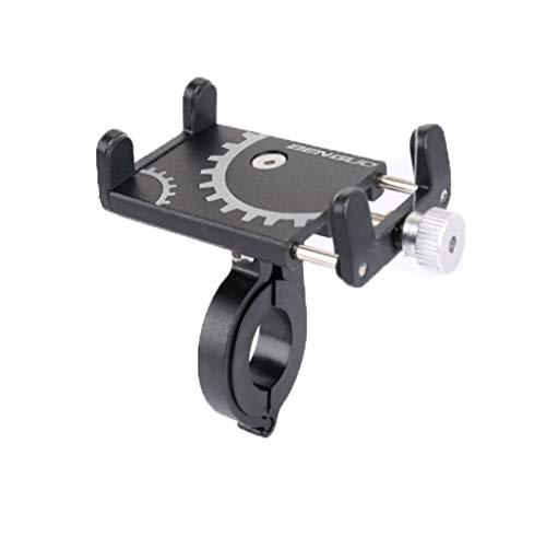 Jamicy® Aluminiumlegierung Handyhalterung Fahrrad, Universal Motorrad Handyhalter, wasserdicht Aluminiumlegierung Handyhalter für iPhone, Android-Smartphone von 3,5 Zoll bis 6,2 Zoll (Schwarz)