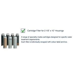 Cartridge Filter for 2.5Inch x 10Inch Housing - Media: Activated Alumina - Function: Floride Reduction