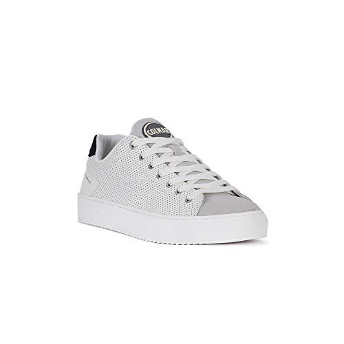 COLMAR BRAPLA weiße weiße Schuhe Turnschuhe Herren Schnürsenkel Leder 45
