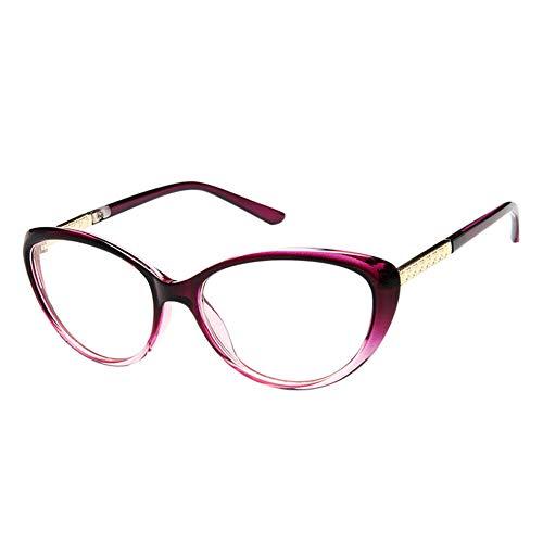 Goyajun Computer Spiel Blau Licht Blockierung Brille Katze Auge Vintage Rahmen Gläser Anti Strahlung Glasses Unisex Klar Linse Goggle