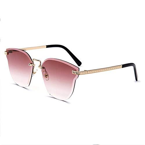 Shengjuanfeng-brillen Marine Film posiert weibliche Models Katze Ohr Sonnenbrille Kristall Farbe Sonnenbrille New Frameless Bunte Sonnenbrille Accessoires (Farbe : Red)