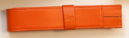 Portapenne arancione singolo da taschino in pelle markiaro 28x158x34mm arancio da tasca per penna da firma delta portapenna patelletta 1 posto regalo natale montegrappa visconti made in italy