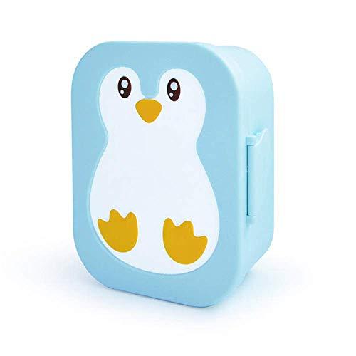 Generic Lunchbox aus Kunststoff für Kinder, mikrowellengeeignet, leicht, niedliches Pinguin Bento Box blau - Pinguin Lunch-box
