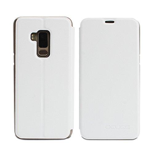 Frlife Hülle für Bluboo S8, Bookstyle Handyhülle Premium PU-Leder klapptasche Case Brieftasche Etui Schutz Hülle für Bluboo S8 Weiß