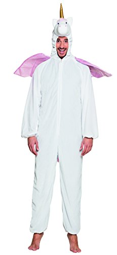 Bilder Der Kostüm Gesicht Reißverschluss - Boland 88061 Erwachsenenkostüm Einhorn Plüsch