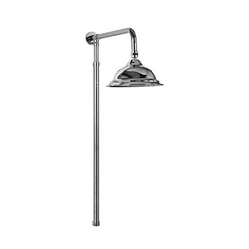 Polish Pfeife (Enki starr Dusche Riser Kit modernes Bell Design Kopf 200viktorianischen Chrom Pura)