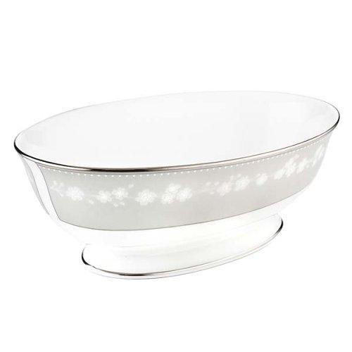 Lenox Bellina Bone China Platinum Banded Open Vegetable Bowl by Lenox Lenox China Open Vegetable Bowl
