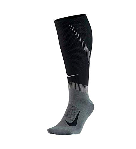 Nike Spark Compression Knee-High Running Socken, Black/Dark Grey, 41-43 EU -