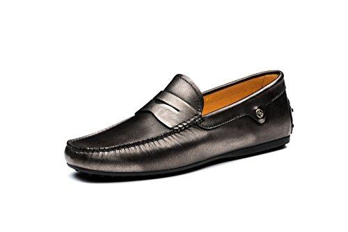 OPP Chaussures Homme Mocassins de Loisir en Cuir Neuf Gris