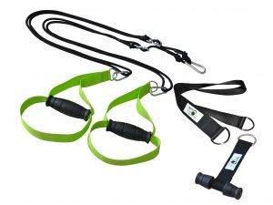 BodyCROSS Premium Schlingentrainer mit Türanker und Zertifikat (InBuB-Siegel) | Sling Trainer Set inkl. Übungsposter, Trainingsplan, Befestigung | abnehmbare Griffe | Made in Germany | (LIM o Spacer)