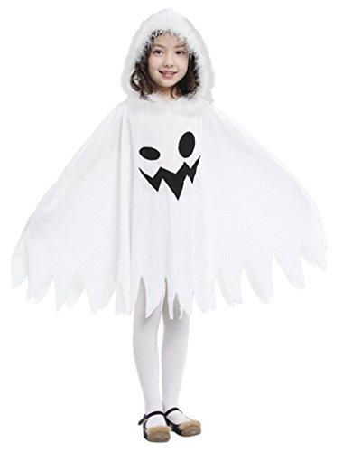 Geist Kostüm Mädchen (EOZY Kinderkostüm Mädchen Halloween Karneval Kostüm Fasching Umhang Geist Körpergröße)