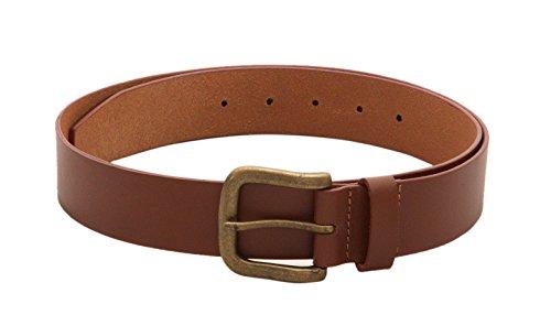 Viari Men's Genuine Leather Tan Belt (Tan, 34)