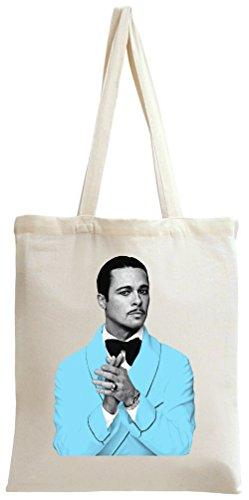 Brad Pitt Blue Suit Tote Bag