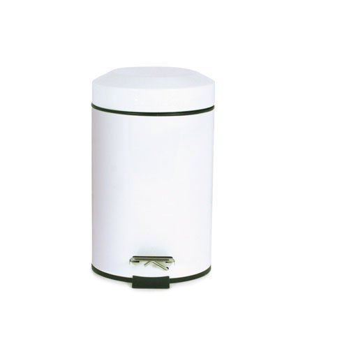 Sabichi Pedal Bin, Stainless-Steel, White, 3 Litre by Sabichi (White Steel-pedal-bin)